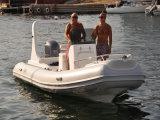 Barco de pesca de la calidad de Liya con el barco inflable de la costilla de la pequeña fibra de vidrio del motor los 5.8m (HYP580)