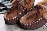 カンガルーの皮の原因の靴の屋内スリッパの本革の靴