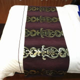 新しいデザインホテルの寝具の一定の綿は最高のホテルのためのベッドのランナーを広げる