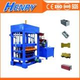 Machine de fabrication de blocs de béton de moteur diesel Qtj4-30, Machine à brique de paillis de couleur à vendre