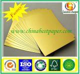 Cartão de papelão de prata / papel base do cartão duplex de cinza para trás