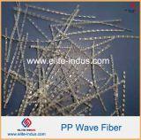 Fibra macra curvada forma 30m m de Undee PP de la onda 48m m 54m m