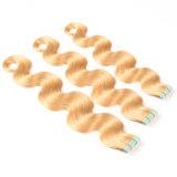 Tape Weft 20PCS PU Skin Weft 18 Inches PromotionのExtensions Platinum Blonde Remy Human Hairの8A Cuticle 60# Tape