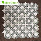 Mengde het Groene Marmer van Ming de Witte Tegels van het Mozaïek van het Patroon van de Zonnebloem Thassos Marmeren op Netwerk