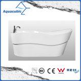 Bañera derecha libre inconsútil de acrílico pura de lujo (AB6508)