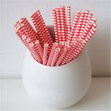 Красное рэгби Striped сторновка 100% Eco-Friendly бумажная выпивая