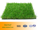 Трава лужайки лета искусственная с пряжей для Landscaping, украшением формы прямоугольника