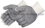 De Handschoen van het koord met pvc Gestippelde Palm en Rug (S5600)