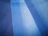 Obscuridade Blenched algodão do Indigo da tela da sarja de Nimes do estiramento do Twill do Slub - azul