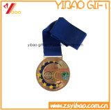 Medalla de deportes de encargo Souveir lazo de cuello (YB-LY-C-02)