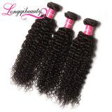 Подгонянная фабрикой девственница Remy индийских волос высокого качества курчавая