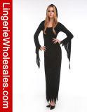 Costume Cosplay ведьмы клобука платья партии Halloween знахарки женщин темный