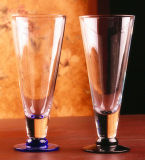 Tazza di vetro di vetro di cocktail della tazza della spremuta della tazza di forma di v della tazza senza piombo del partito