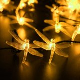 Wasserdichte dekorative Beleuchtung 10 LED-Libelle-angeschaltene Zeichenkette-Solarlichter