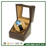 高品質PUの革自動腕時計の巻取り機