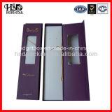 Caja de embalaje del papel de la extensión del pelo con la ventana clara