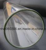 Tube en verre à base de borosilicate éclairé au feu transparent