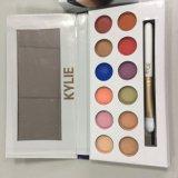 2017 paleta real da sombra da composição da paleta da sombra de olho do pêssego 12colors de Kylie da chegada nova com escova