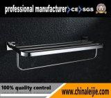 Crémaillère d'essuie-main d'acier inoxydable de la base carrée 304 avec l'étagère