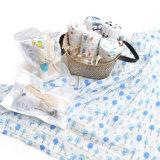 Baumwolle 2017 gedruckte neugeborene Gaze-mehrfachverwendbare Musselin-Zudecke
