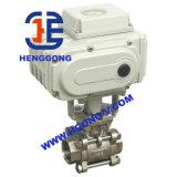 Шариковый клапан резьбы нержавеющей стали API/ANSI/DIN CF8m электрический