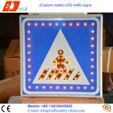LED 태양 에너지 교통 신호 표시, 교통 안전 경고 표시