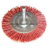 Cepillo de alambre de acero circular con el eje