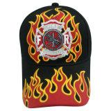 Gorra de béisbol de los 6 paneles con insignia al frente (076P014)