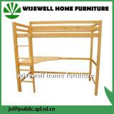 Bâti élevé solide de dormeur en bois de pin avec le bureau