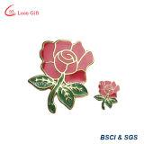 Pin all'ingrosso su ordinazione del risvolto del distintivo dell'oro della Rosa di scintillio
