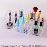 Maquillaje de acrílico claro de encargo/rectángulo cosmético