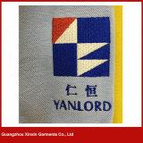 100% Mann-Baumwollhemd-Polo-Hemd-lange Hülsen-Polo-Stück-Hemden (P137)