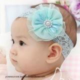 아기의 머리띠 소녀의 귀여운 머리 꽃, 진주 머리띠