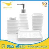 安い陶磁器の石鹸のホールダーの浴室のアクセサリの浴室セット