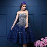 Querido de perolização principal de cristal A do Chá-Comprimento - linha vestido do baile de finalistas