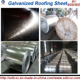 La placa de acero en los productos de acero del material de la bobina/de construcción galvanizó la bobina de acero 0.125m m