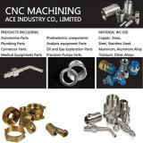 CNC anodizado plata del aluminio que trabaja a máquina la pieza dada vuelta del tornillo
