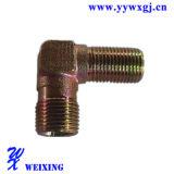 Compresseur d'amorçage mâle du coude 90degree ajustant l'ajustage de précision pneumatique