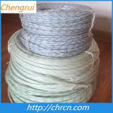 高品質2715 PVC絶縁体のガラス繊維のスリーブを付けること