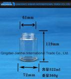 Speicher-Glasflasche des Honig-300ml und der Nahrung