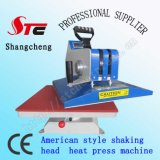 Shaking 미국 Head Heat Press Machine 38*38cm Digital Swing Away Heat Transfer Machine Manual T Shirt Press Printing Machine Stc SD03