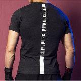 人の印刷乾燥した適合の体操のTシャツ