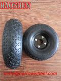 Roda de borracha pequena com borda de plástico