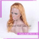 Pelucas delanteras rubias del cordón del platino brasileño del pelo humano