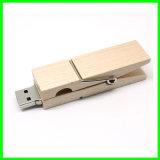 Lecteur flash USB en bois de clip de carte mémoire Memory Stick d'OEM