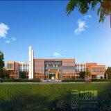 Sekundarschule-Lay-out-Plan Aerail Ansicht-Wiedergabe