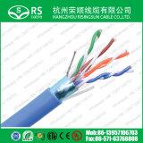 Голубой AWG категории 5e F/UTP 24 4 пары защищаемого кабеля