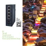 Interruptor de red Unmanaged industrial de la fibra de Gigbit de los accesos de Saicom 10 (SCSWG-10082) con la cubierta sólida