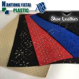 Cuir artificiel de PVC de type neuf parfait de Handfeeling pour la chaussure