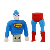 USB Cartoon Hero Pen Drive 8GB Memory Stick Pendrive 16GB 32GB 64gbpvc Bat Hombre Super Hombre Increíble Hulk USB Flash Drive